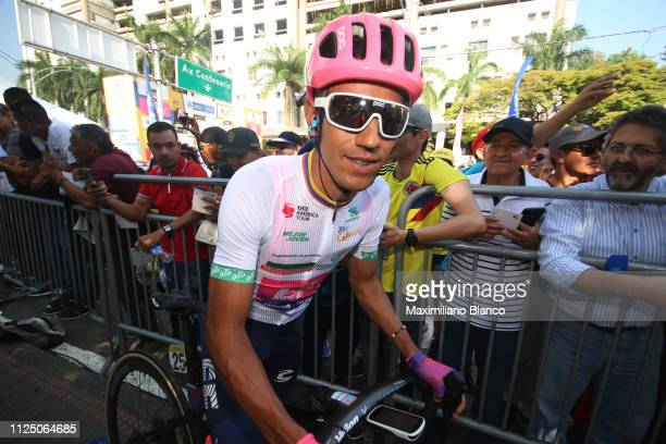 Start / Daniel Martínez of Colombia and EF Education First Pro Cycling Team White Best Young Jersey / during the 2nd Tour of Colombia 2019 Stage 4 a...