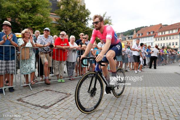 Start / Daniel McLay of United Kingdom and Team EF Education First / during the 34th Deutschland Tour 2019 Stage 4 a 1599km stage from Eisenach to...