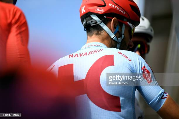 Start / Daniel Navarro of Spain and Team Katusha Alpecin / Detail view / during the 99th Volta Ciclista a Catalunya 2019, Stage 6 a 169,1km stage...
