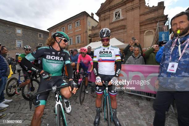 Start / Daniel Oss of Italy and Team Bora - Hansgrohe / Peter Sagan of Slovakia and Team Bora - Hansgrohe / during the 54th Tirreno-Adriatico 2019,...