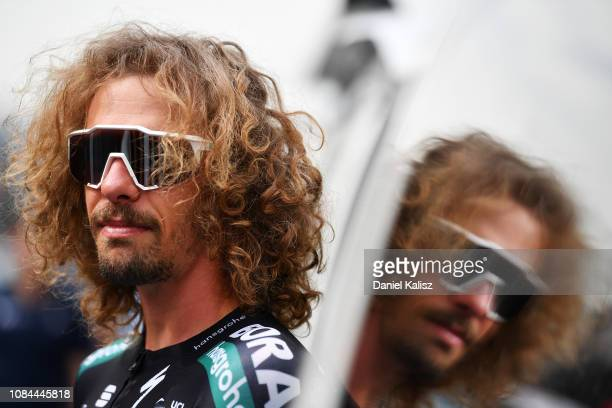 Start / Daniel Oss of Italy and Team Bora-Hansgrohe looks on during the 21st Santos Tour Down Under 2019, Stage 4 a 129,2km stage from Unley to...