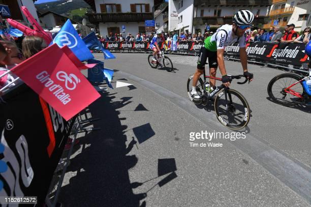 Start / Danilo Wyss of Switzerland and Team Dimension Data / Valdaora Village / Fans / Public / Shadow / Detail view / Bike / during the 102nd Giro...