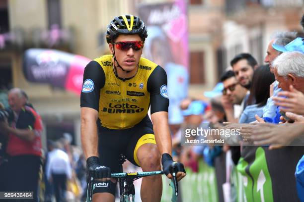 Start / Danny Van Poppel of The Netherlands and Team LottoNL-Jumbo / Osimo City / during the 101st Tour of Italy 2018, Stage 12 a 214km stage from...