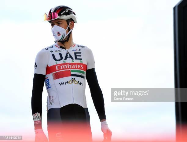 Start / David de la Cruz Melgarejo of Spain and UAE Team Emirates / Mask / Covid safety measures / Team Presentation / during the 75th Tour of Spain...