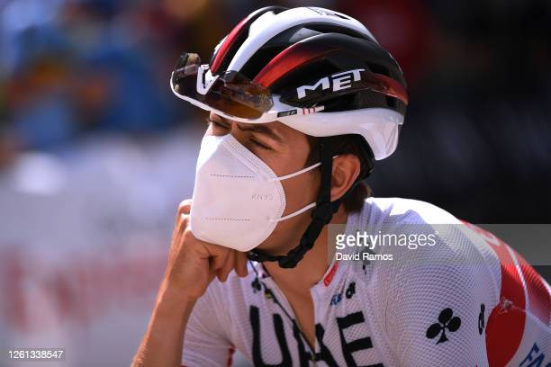 Start / David De la Cruz Melgarejo of Spain and UAE Team Emirates / during the 42nd Vuelta a Burgos 2020, Stage 1 a 157km stage from Burgos to Burgos...
