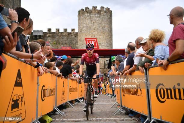 Start / David de la Cruz of Spain and Team Ineos / Arenas de San Pedro Village / Castle / Fans / Public / during the 74th Tour of Spain 2019 Stage 20...