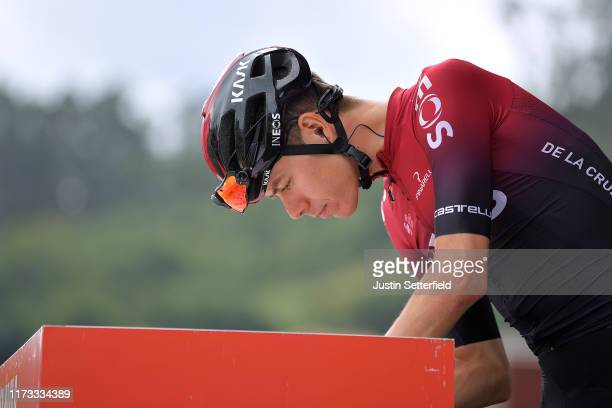 Start / David de la Cruz of Spain and Team Ineos / Signature / Pravia Village / during the 74th Tour of Spain 2019 Stage 16 a 1444km stage from...