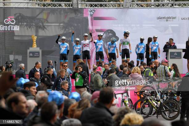 Start / Davide Cimolai of Italy and Team Israel Cycling Academy / Andemeskel Awet Gebremedhin of Sweden and Team Israel Cycling Academy / Guillaume...