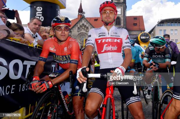 Start / Domenico Pozzovivo of Italy and Bahrain Merida / Gianluca Brambilla of Italy and Team TrekSegafredo / Tarnowskie Góry City / during the 76th...