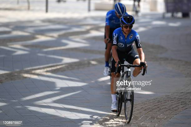 Start / Domenico Pozzovivo of Italy and NTT Pro Cycling Team / during the 6th UAE Tour 2020 Stage 5 a 162km stage from Al Ain to Jebel Hafeet 1033m /...