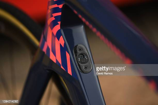 Start / Down tube / Cannondale Bike / Team EF Pro Cycling / Detail view / Salamanca City / Team Presentation / during the 75th Tour of Spain 2020,...