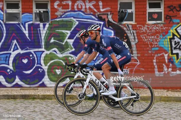 Start / Dries De Bondt of Belgium and Team Alpecin-Fenix / Otto Vergaerde of Belgium and Team Alpecin-Fenix / during the 46th Volta ao Algarve 2020,...
