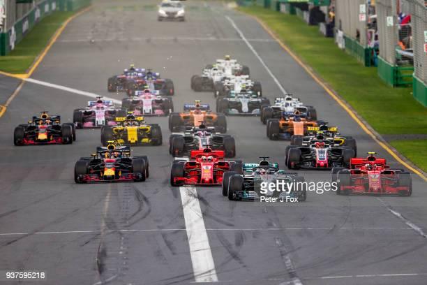 Start during the Australian Formula One Grand Prix at Albert Park on March 25 2018 in Melbourne Australia