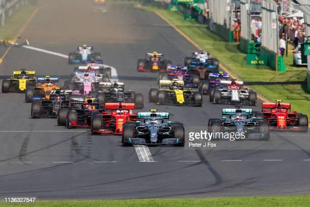 Start during the F1 Grand Prix of Australia at Melbourne Grand Prix Circuit on March 17 2019 in Melbourne Australia