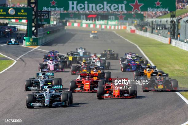 Start during the F1 Grand Prix of Japan at Suzuka Circuit on October 13 2019 in Suzuka Japan