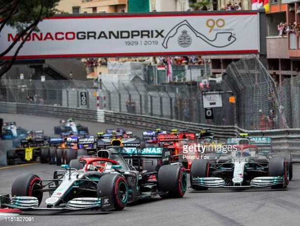 Start during the F1 Grand Prix of Monaco at Circuit de Monaco on May 26, 2019 in Monte-Carlo, Monaco.