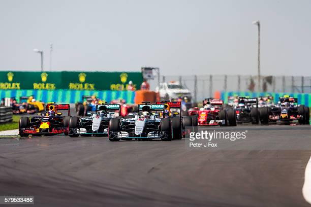 Start during the Formula One Grand Prix of Hungary at Hungaroring on July 24 2016 in Budapest Hungary