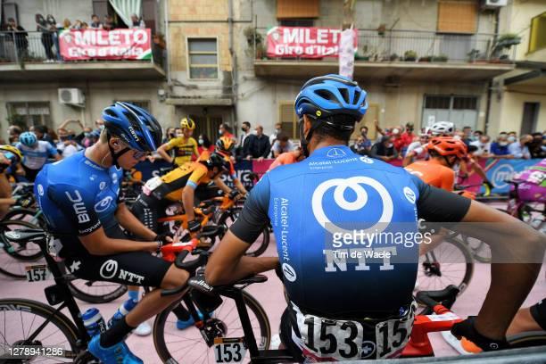 Start / Dylan Sunderland of Australia and NTT Pro Cycling Team / Amanuel Ghebreigzabhier Werkilul of Eritrea and NTT Pro Cycling Team / Mileto City /...