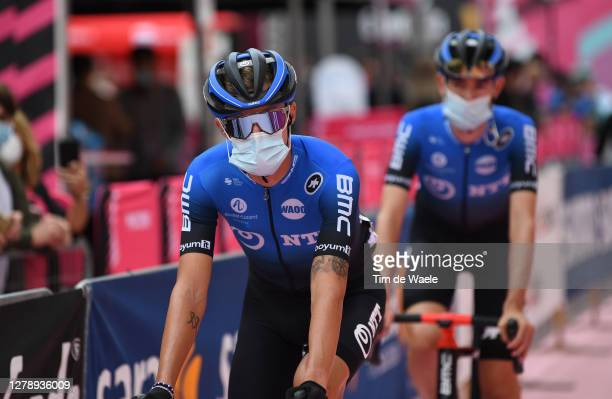 Start / Dylan Sunderland of Australia and NTT Pro Cycling Team / Mask / Covid safety measures / Detail view / during the 103rd Giro d'Italia 2020,...