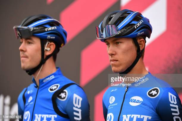 Start / Dylan Sunderland of Australia and NTT Pro Cycling Team / Team Presentation / during the 103rd Giro d'Italia 2020, Stage 18 a 207km stage from...
