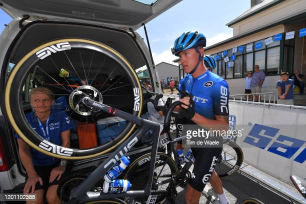 Start / Dylan Sunderland of Australia Team NTT Pro Cycling / Woodside City / during the 22nd Santos Tour Down Under 2020, Stage 2 a 135,5km stage...