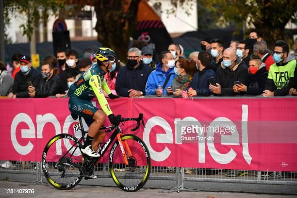 Start / Edoardo Zardini of Italy and Team Vini Zabu KTM / Bassano del Grappa Village / Fans / Public / during the 103rd Giro d'Italia 2020, Stage 17...