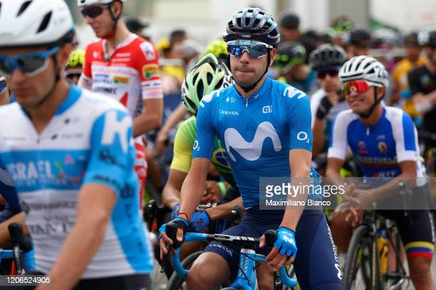 Start / Eduardo Sepulveda of Argentina and Team Movistar / during the 3rd Tour of Colombia 2020, Stage 5 a 180,5km stage from Paipa to Zipaquirá /...