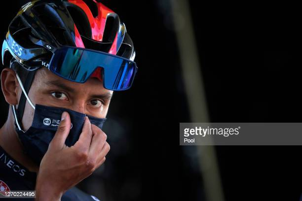 Start / Egan Arley Bernal Gomez of Colombia and Team INEOS Grenadiers / Mask / Covid Safety Measures / during the 107th Tour de France 2020, Stage 5...