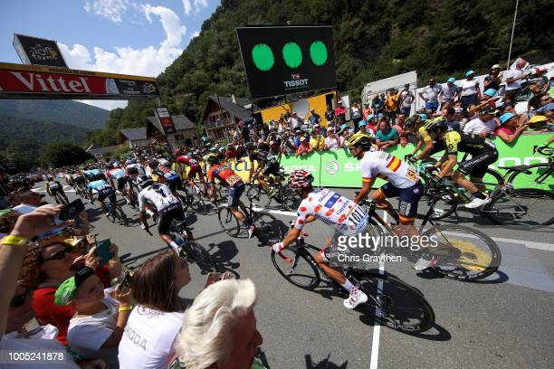 Start / Egan Arley Bernal of Colombia and Team Sky / Julian Alaphilippe of France and Team QuickStep Floors Polka dot Mountain Jersey / Gorka...