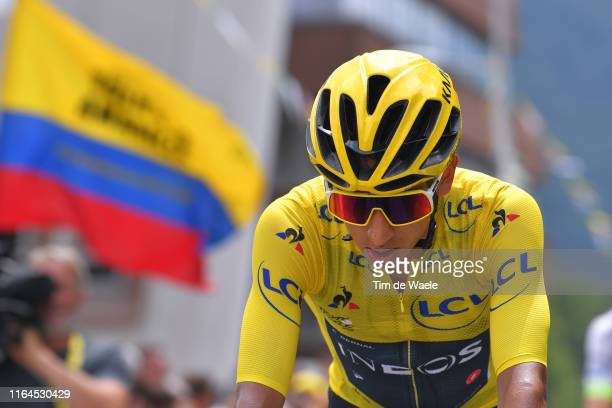 Start / Egan Bernal of Colombia and Team INEOS Yellow Leader Jersey / Albertville City / during the 106th Tour de France 2019, Stage 20 a 59,5km...