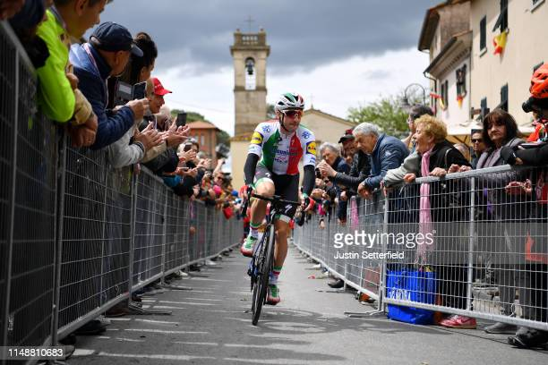 Start / Elia Viviani of Italy and Team Deceuninck QuickStep / during the 102nd Giro d'Italia 2019 Stage 3 a 220km stage from Vinci to Orbetello /...