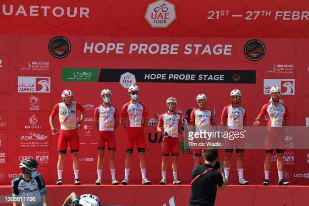 Start / Elia Viviani of Italy, Ruben Fernandez Andujar of Spain, Nathan Haas of Australia, Remy Rochas of France, Fabio Sabatini of Italy, Kenneth...