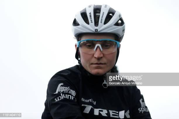 Start / Elisa Longo Borghini of Italy and Team Trek Segafredo Polka Dot Mountain Jersey / during the 32nd Women WT Emakumeen Bira 2019 Stage 3 a 97km...