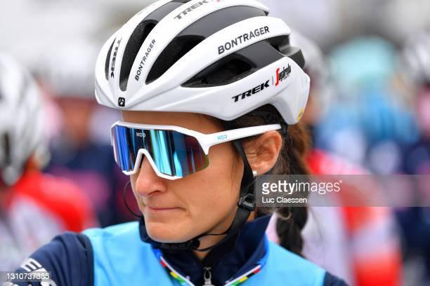 Start / Elisabeth Deignan-Armitstead of United Kingdom and Team Trek- Segafredo during the 18th Ronde van Vlaanderen - Tour of Flanders 2021, Women's...