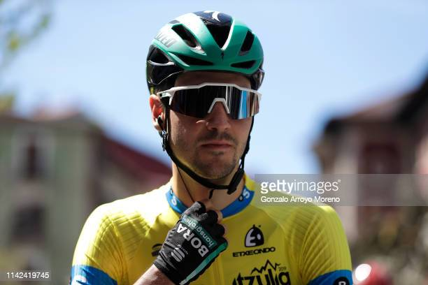 Start / Emanuel Buchmann of Germany and Team Bora Hansgrohe Yellow Leader Jersey / during the 59th ItzuliaVuelta Ciclista Pais Vasco 2019 Stage 6 a...