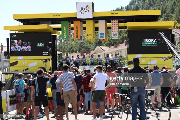 Start / Emanuel Buchmann of Germany, Felix Grobschartner of Austria, Lennard Kamna of Germany, Gregor Muhlberger of Austria, Daniel Oss of Italy,...