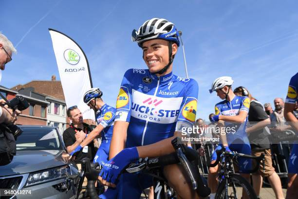 Start / Enric Mas of Spain and Team QuickStep Floors / during the 82nd La Fleche Wallonne 2018 a 1985km race from Seraing to Mur De Huy on April 18...