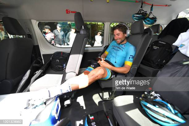 Start / Fabio Felline of Italy and Astana Pro Team / during the 22nd Santos Tour Down Under 2020, Stage 3 a 131km stage from Unley to Paracombe 416m...