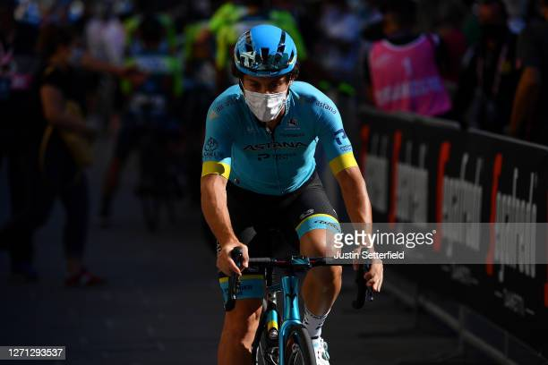 Start / Fabio Felline of Italy and Astana Pro Team / Mask / Covid safety measures / during the 55th Tirreno-Adriatico 2020, Stage 2 a 201km stage...