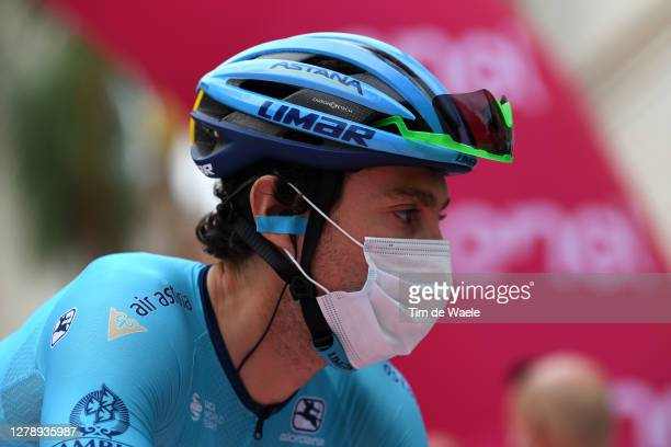 Start / Fabio Felline of Italy and Astana Pro Team / Mask / Covid safety measures / Team Presentation / during the 103rd Giro d'Italia 2020, Stage 5...