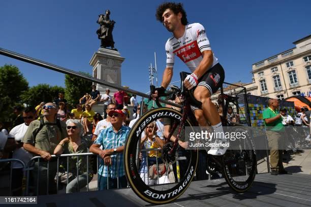 Start / Fabio Felline of Italy and Team Trek-Segafredo / Mâcon City / Fans / Public / during the 106th Tour de France 2019, Stage 8 a 200km stage...