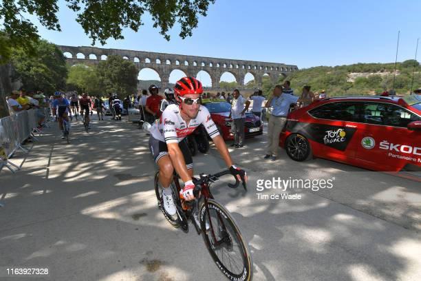 Start / Fabio Felline of Italy and Team Trek-Segafredo / Pont du Gard Bridge / during the 106th Tour de France 2019, Stage 17 a 200km stage from Pont...