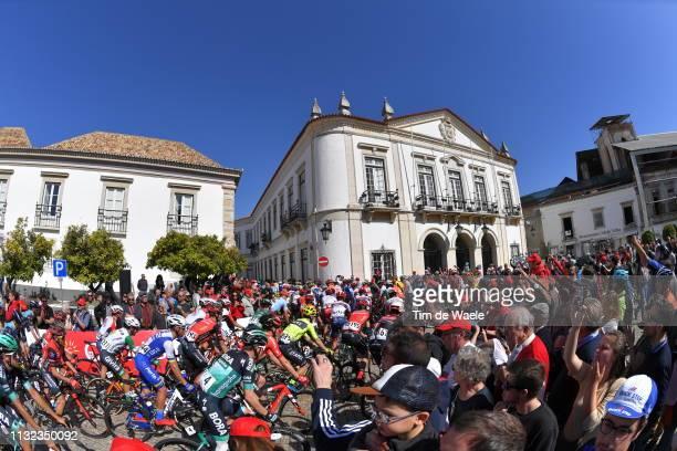 Start / Faro City / Peloton / Fans / Public /during the 45th Volta ao Algarve, Stage 5 a 173,5km stage from Faro to Alto Do Malhão 518m - Loulé / VA...