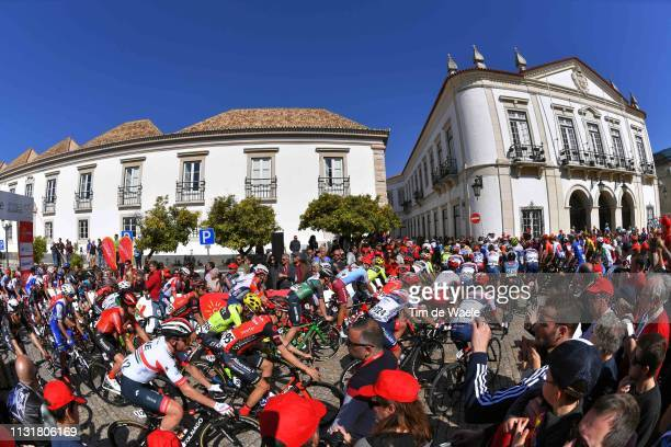 Start / Faro City / Peloton / Fans / Public / Landscape / during the 45th Volta ao Algarve, Stage 5 a 173,5km stage from Faro to Alto Do Malhão 518m...