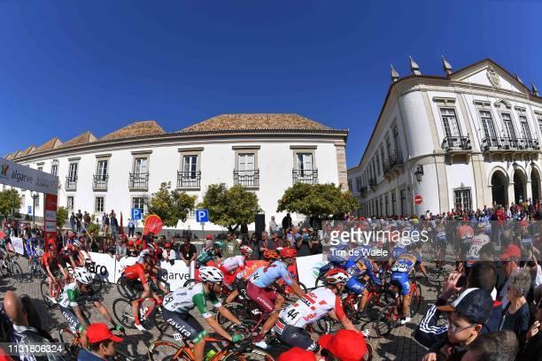 Start / Faro City / Peloton / Fans / Public / Landscape / during the 45th Volta ao Algarve Stage 5 a 1735km stage from Faro to Alto Do Malhão 518m...
