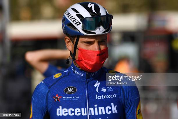 Start / Fausto Masnada of Italy and Team Deceuninck - Quick-Step during the 100th Volta Ciclista a Catalunya 2021, Stage 7 a 133km stage from...