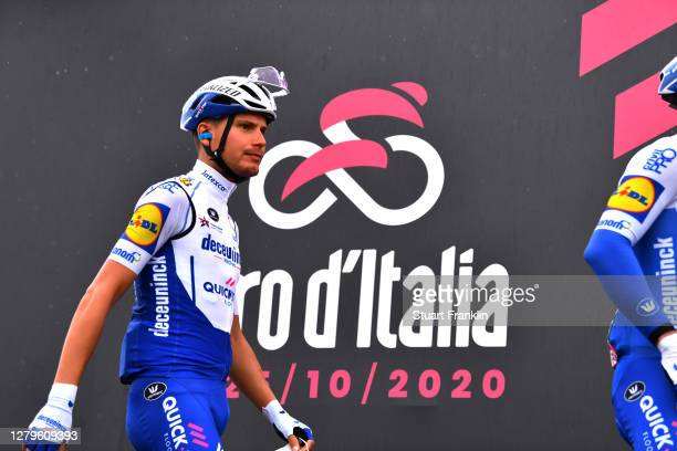 Start / Fausto Masnada of Italy and Team Deceuninck - Quick-Step / Team Presentation / during the 103rd Giro d'Italia 2020, Stage 9 a 207km stage...