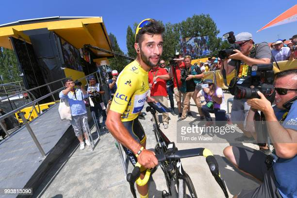Start / Fernando Gaviria of Colombia and Team Quick-Step Floors Yellow Leader Jersey / Specialized Bike / during the 105th Tour de France 2018, Stage...