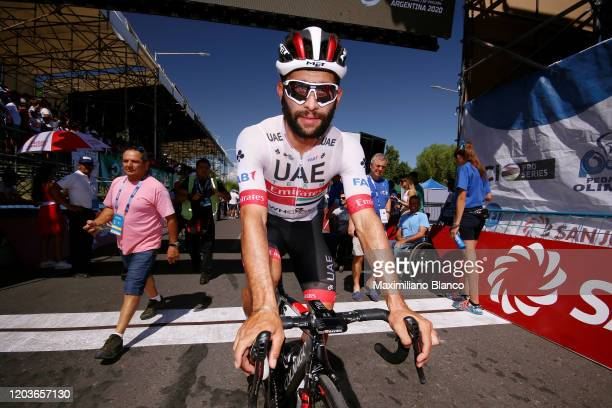 Start / Fernando Gaviria of Colombia and UAE Team Emirates / during the 38th Vuelta a San Juan International 2020 Stage 7 a 1413km stage from San...