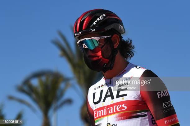 Start / Fernando Gaviria Rendon of Colombia and UAE Team Emirates during the 34th Clásica de Almeria 2021 a 183,3km race from Pueblo de Vicar to...